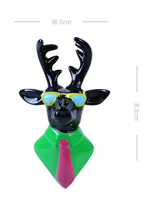Thanx Co Cool Green Deer Duvar Aksesuarı Yeşil